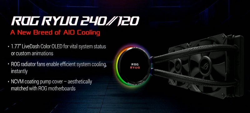 ASUS reveals their Ryujin and Ryuo series of AIO Liquid coolers