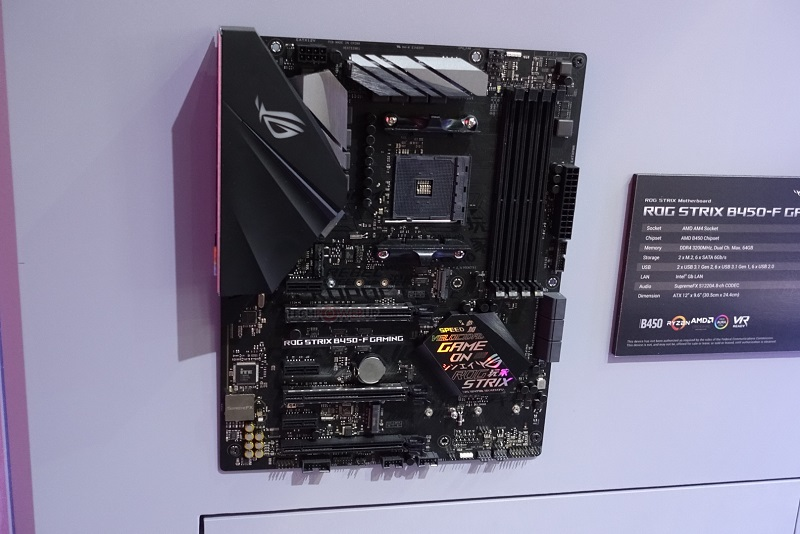 ASUS' ROG Strix B450-F Gaming smiles for the camera