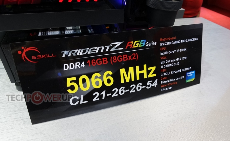 G.Skill showcases 5066MHz memory kit at Computex