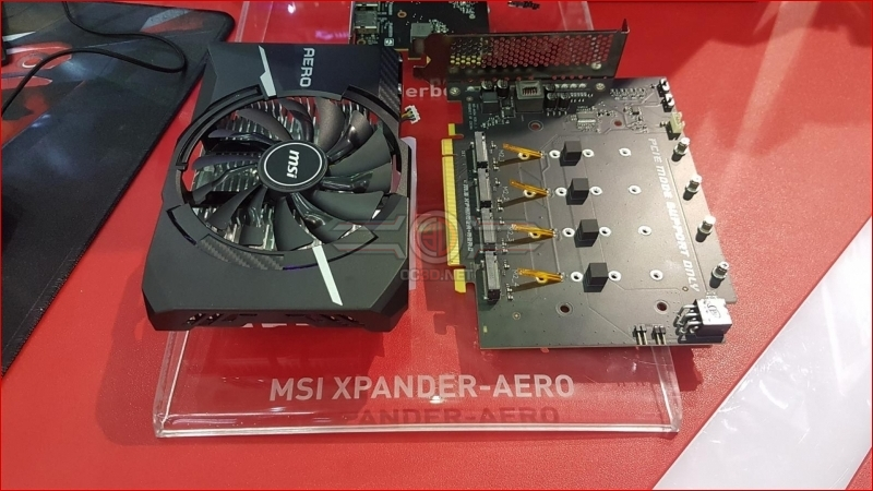 MSI reveals their Xpander-Aero 4-way M.2 to PCIe card