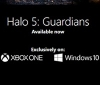 Xbox has listed Halo 5: Guardians with Windows 10 support on their website