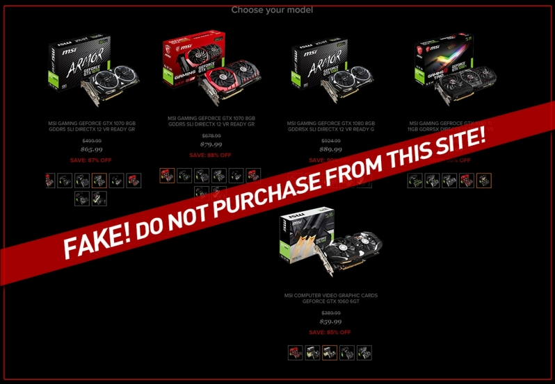 MSI warns users about Fake/Unauthorised GPU Sellers
