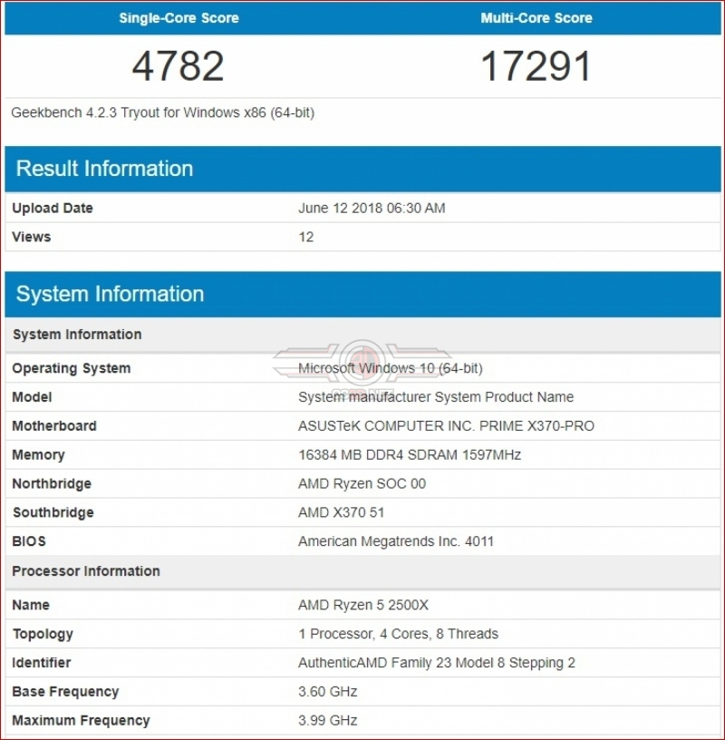 AMD's Ryzen 2300X and 2500X CPUs appear on Geekbench