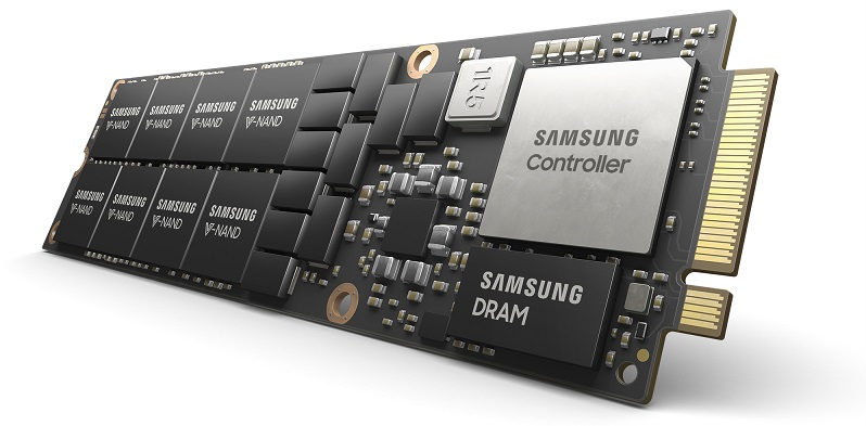Samsung Reveals an 8TB M.2 NF1 NVMe SSD for Data Centers