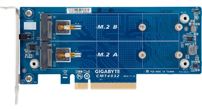 GIGABYTE Introduce their CMT403x series of M.2-to-PCIe cards
