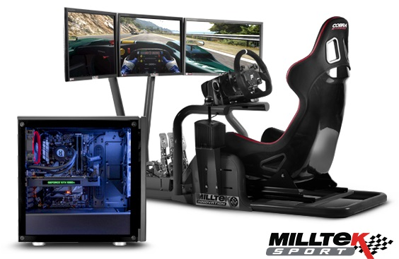 PCSpecialist and Milltek team up to create high-end PC Racing Simulators