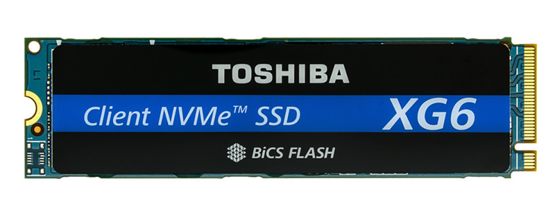 Toshiba releases their XG6 series of NVMe SSDs with 96-layer 3D BiCS NAND