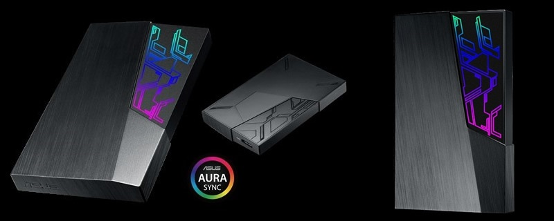 ASUS launches their FX external HDD with Aura Sync
