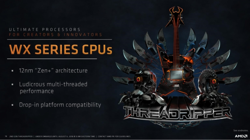 AMD 2nd Gen Ryzen Threadripper 2990WX and 2950X Preview