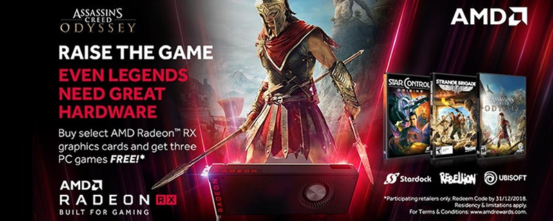 AMD offers three free games with Radeon RX Vega, 580 or 570 purchases