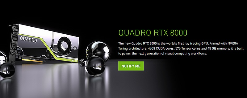 Nvidia reveals their Quadro RTX series of Ray Tracing graphics cards