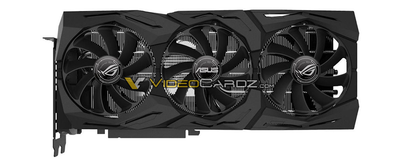 ASUS Geforce RTX ROG Strix, Dual and Turbo graphics cards pictured