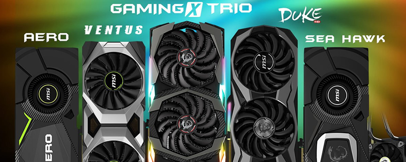 MSI launches their RTX 20 series graphics lineup