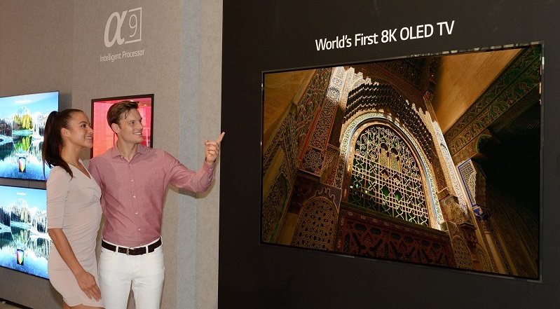 LG showcases the world's first 8K OLED TV at IFA 2018