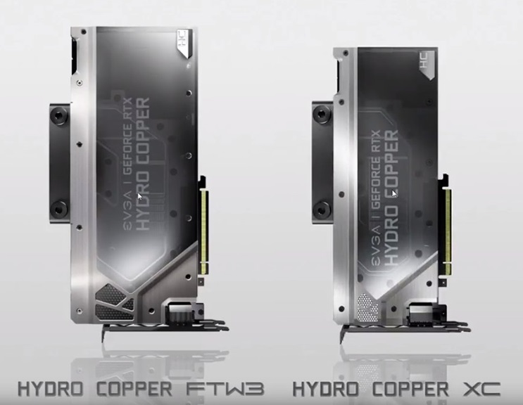EVGA's Hydro Copper RTX series graphics cards revealed