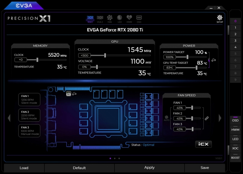 EVGA Precision X1 Software Utility is now available for RTX 20 series graphics card