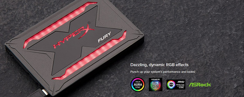 Kingston reveals their HyperX Fury RGB SSD
