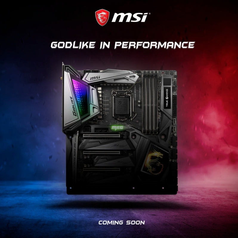 MSI MEG Z390 GODLIKE Motherboard pictured