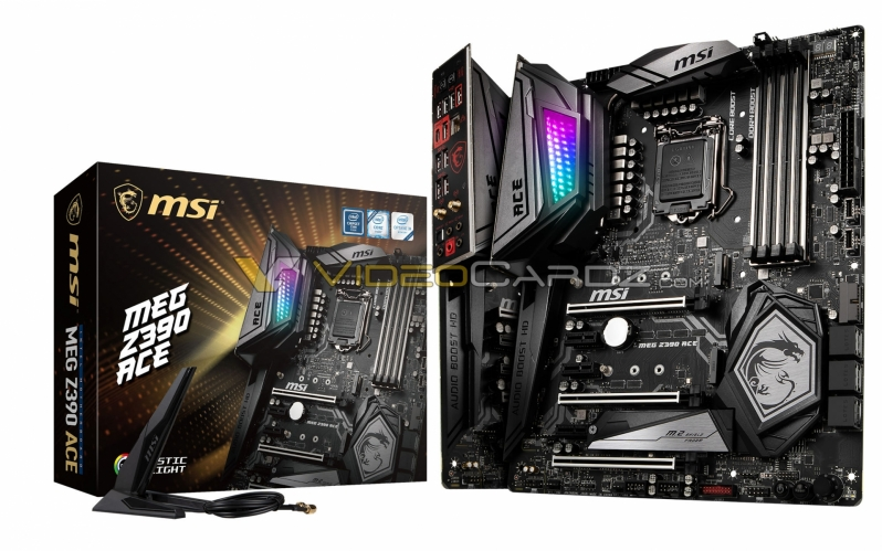 MSI's MEG Z390 ACE has been pictured