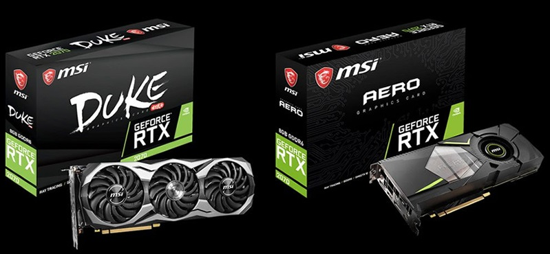 MSI reveals a quartet of custom GTX 2070 graphics cards