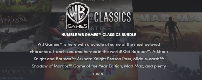 The Humble Warner Bros Classics Bundle is now live