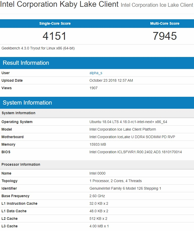 Intel Ice Lake benchmark leak suggests major core overhaul