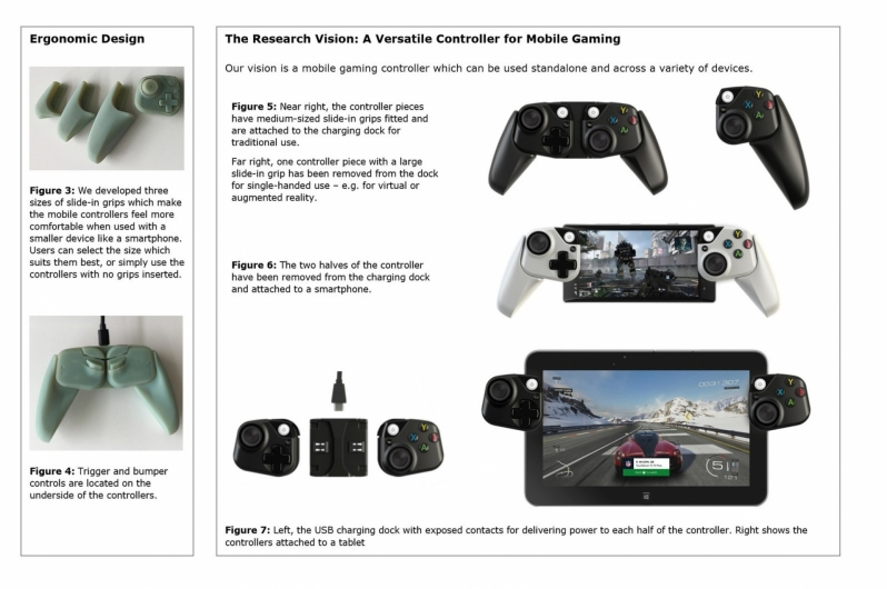 Microsoft reveals prototype Xbox controllers for mobile devices