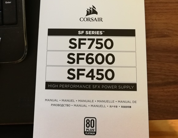 Corsair appears to be working on an SF750 power supply
