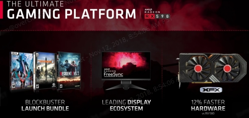 AMD's RX 590 will ship with a Killer 3-Game Bundle