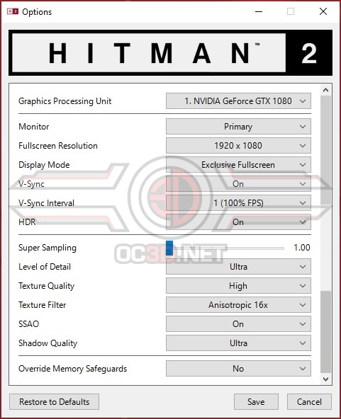 Hitman 2 PC Performance Review