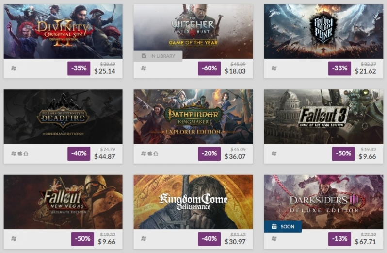 The GOG Black Friday Sale has started