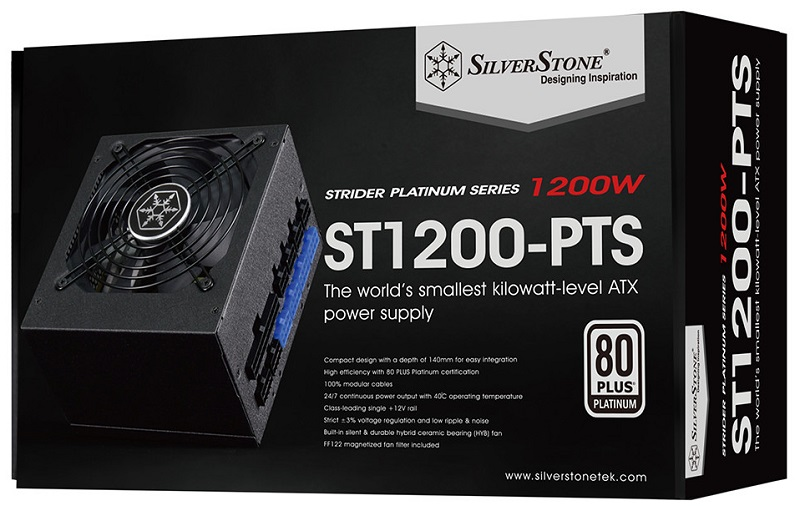 Silverstone releases the world's smallest Kilowatt-class PSUs the Strider Platinum PTS