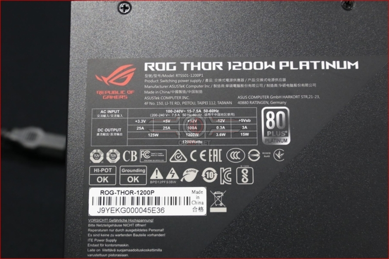ASUS ROG Thor 850W & 1200W PSU Review