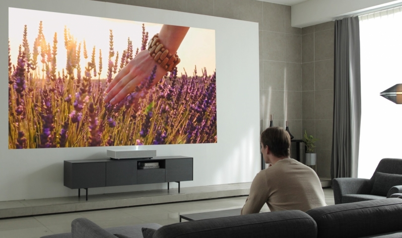 LG's HU85L 4K projector needs 2-inches of space to project a 90-inch screen