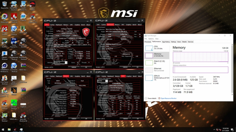 MSI enables support for JEDEC 32GB DDR4 DIMMs on Z390 - Up to 128GB Supported