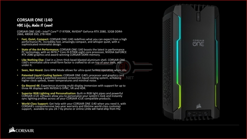 Corsair Refreshes their One System Lineup with i180 Pro, i160 & i140 Models