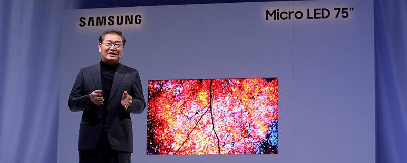 Samsung Showcases 75-inch and 219-inch MicroLED TVs at CES