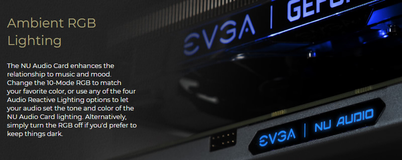 EVGA Launches their NU-Audio Audiophile-grade Sound Card