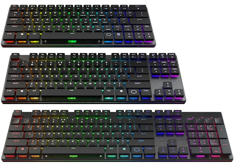 Cooler Master Showcases SK series of wireless keyboards and ControlPad accessory