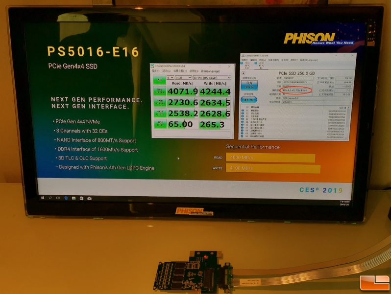 Phison Demos PS5016-E16 PCIe Gen 4.0 x4 SSD at CES