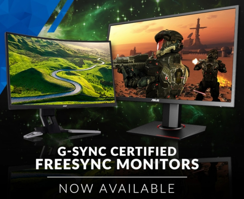 OCUK Opens G-Sync Compatible FreeSync Monitor Sections