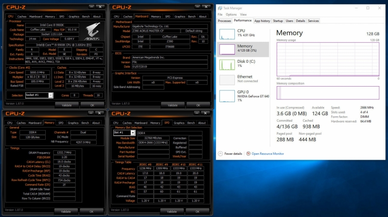 Gigabyte Enables Support 32GB DDR4 DIMMs on Z390 and C246 Motherboards