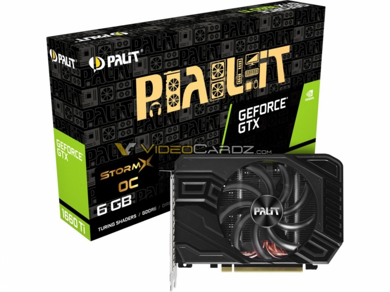 PALIT GTX 1660 Ti Pictured - Clock Speeds Revealed