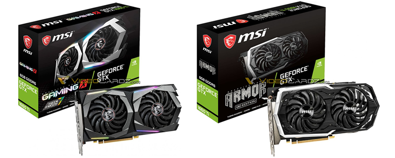 MSI GTX 1660 Ti Gaming X and Armor Pictured