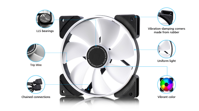 Fractal Design Launches their Prisma Series of RGB 120/140mm fans