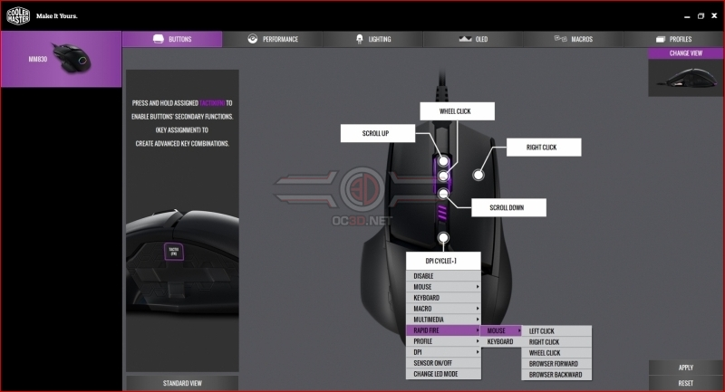 Cooler Master MM830 Software