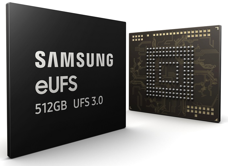 Samsung Launches 512GB eUFS 3.0 Memory with 5th Gen V-NAND