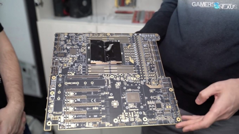 EVGA is working on a SR-3 Dark series motherboard for LGA 3647