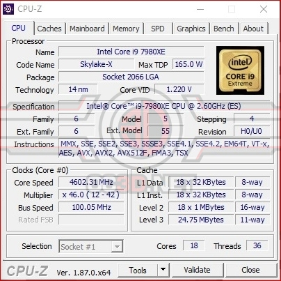 ASUS X299 Rampage VI Extreme Omega Overclocking