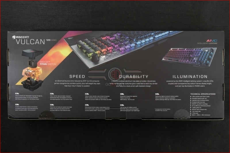 Roccat Vulcan 120 AIMO Gaming Keyboard Packaging